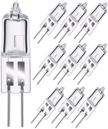 Sincher-G4-Halogen-Light-Bulb-10-Pack-20W-12V-G4-Halogen-Bi-Pin-Bulb-260LM-2800K-Warm-White-Clear-Lamp-G4-Halogen-Bulbs-B085H5P1