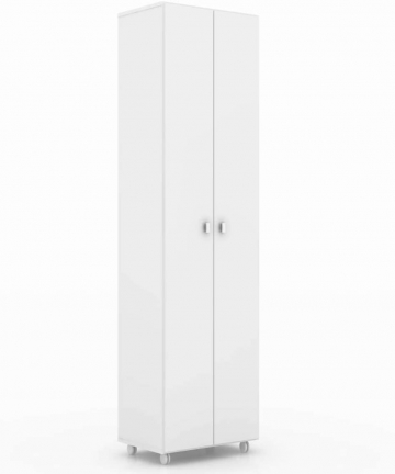 Tecnomobili-MDP-Storage-Cabinet-with-two-Doors-AM3101-15mm-Four-Internal-shelves-space-for-cleaning-products-White-1905-x-60-x-4