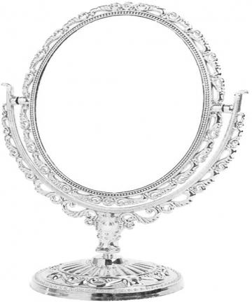 CLISPEED-Makeup-Mirror-Tabletop-Double-Sided-Cosmetic-Vanity-Mirror-Antique-Retro-European-Swivel-Oval-Mirror-for-Bathroom-Bedro