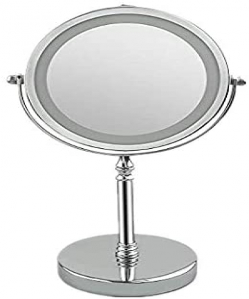 Volwco-x10-Magnifying-Mirror-with-Lights-10x-Magnifying-Lighted-Makeup-Mirror-High-Definition-Clarity-Double-Sided-360-Rotation-