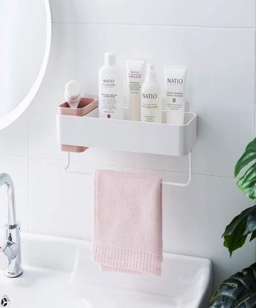 AMERTEER-Bathroom-Organizers-Adhesive-Shelf-Storage-with-Towel-Bar-Wall-Mounted-Wall-Mounted-Shower-Caddy-Kitchen-Spice-Rack-B08
