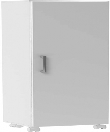 BRV-Moveis-MDP-15mmPlastic-ComponentsMelamine-Finishing-Multi-use-Bathroom-Cabinet-BS-06-06-White-H144-x-W31-x-D35-cm-BS-06-06