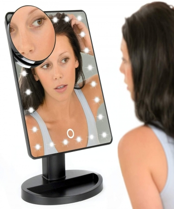 Rubik-Lighted-Makeup-Mirror-with-Magnification-Vanity-Mirror-with-24-LED-Lights-Touch-Screen-Dimming-Small-Detachable-10x-Magnif