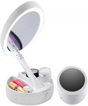 Lighted-Folding-Makeup-Mirror-Finishing-Touch-Flawless-Folding-Mirror-with-21-LED-Lights-1X-10X-Magnification-Double-Sided-Folda