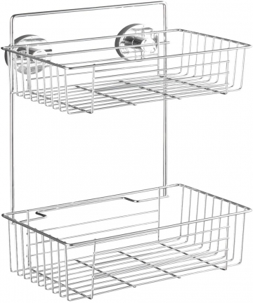 WENKO-Vacuum-Loc-2-Tier-wall-rack-Bari-fixing-without-drilling-Steel-26-x-38-x-17-cm-Chrome-20889100