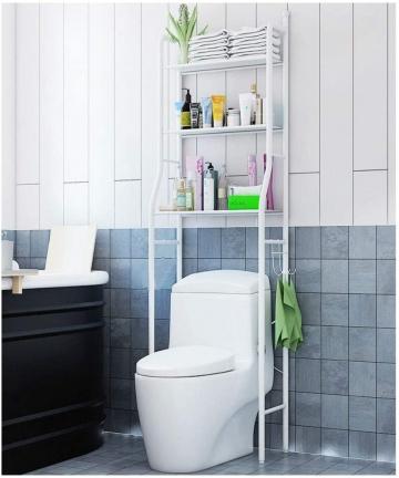 3-Shelf-Over-The-Toilet-Bathroom-Shelf-Space-Saver-Rack-Metal-Towel-Cabinet-Rack-White-B07W6MNXDD