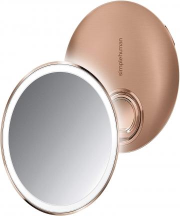 Simplehuman-Sensor-Compact-Mirror-10cm-Rose-Gold-SN-ST3031-ST3031