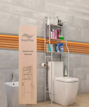 RoyalPolar-3-Tier-Bathroom-Washing-Machine-Toilet-Shelf-Rack-Bathroom-Corner-FrameStainless-Steel-Rack-Space-Saver-Over-The-Toil