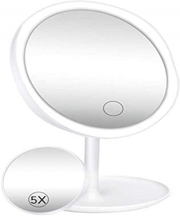 LED-Makeup-Mirror-with-Lights-Lighted-Makeup-Vanity-Mirror-1x5x-Magnification-90-Free-Rotation-with-Touch-Screen-DimmingPortable