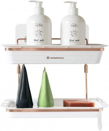 2-Tier-Shower-Caddy-Adhensive-Shower-Shelf-Wall-Mounted-Storage-Oraganizer-No-Drilling-Shower-Caddies-Storage-Rack-for-Toilet-Ba