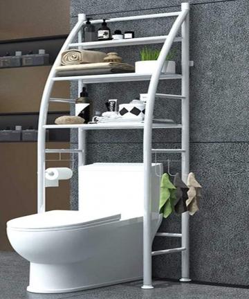 Metal-Toilet-Cabinet-Shelving-Kitchen-Bathroom-Space-Saver-Shelf-Organizer-Holder-New-B084LJB8P2