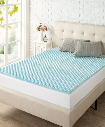 Zinus-15-Inch-Swirl-Gel-Memory-Foam-Convoluted-Mattress-Topper-Cooling-Airflow-Design-CertiPUR-US-Certified-Full-AZ-SWFT-15