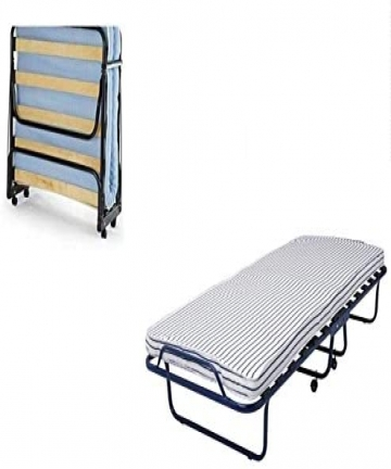 Folding-bed-foam-mattress-roll-away-bed-with-Castors-SANDVIKA-single-bed-size-80-cm-x-190-cm-B07QRT5H48