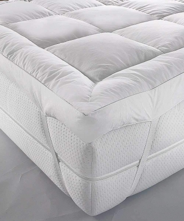 Mattress-Topper-120x200cm-500GSM-Soft-Dacron-Sheet-Filling-with-Microfiber-Outer-B081YLCRTH