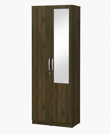 HOMEBOX-Kulltorp-New-2-Door-Wardrobe-with-Mirror-Brown-80-x-52-x-182-cm-B089SPPPX2