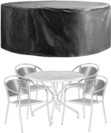 Patio-Furniture-Covers-Outdoor-Table-Chair-Set-Covers-Waterproof-Heavy-Duty-Durable-60-D-x-28-H-Black-B07Q8GHH3H