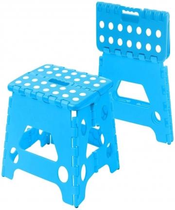 Multi-Purpose-Folding-Step-Stool-kids-Home-Kitchen-Easy-Storage-Blue-B07MJYLN2Z