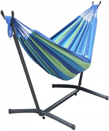 Single-Hammock-with-Steel-Stand-Hammock-BedPortable-Hammock-Swing-Bed-for-Indoor-Or-Outdoor-B088BVM8PZ