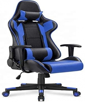 Gaming-Chair-High-Back-Computer-Chair-PU-Leather-Executive-Ergonomic-Adjustable-Swivel-Task-Chair-with-Headrest-and-Lumbar-Suppo