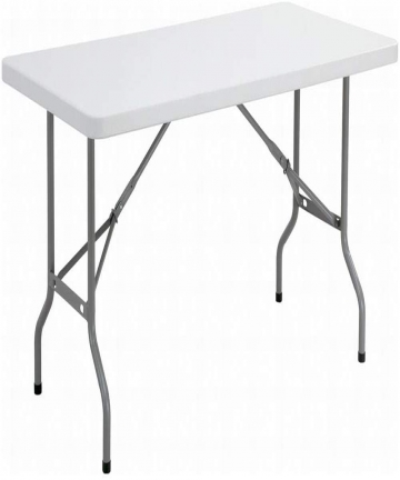 18m-6Ft-Foldable-Lightweight-Table-Durable-Outdoor-and-Indoor-Portable-Table-Colour-White-B07MJW66XQ