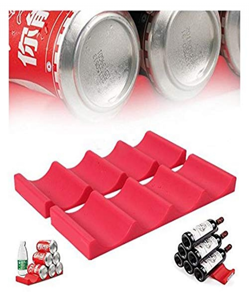 Beer-Wine-Bottle-Rack-Organiser-Holder-Mat-Stacking-Tidy-Placed-Tool-Kitchen-Cabinet-Fridge-Storage-Organizer-Silicone-Bottle-St