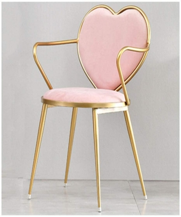 HEJINXL-Dining-Chairs-Dresser-Chair-Makeup-Chair-Band-Plastic-Non-slip-Velvet-Wrought-Iron-Chair-Modern-Dining-Bedroom-Back-Chai