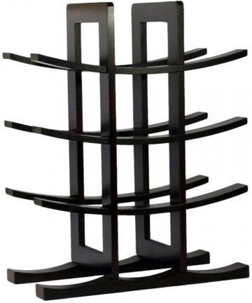 Garneck-Bamboo-Wine-Display-Rack-Free-Standing-Countertop-Wine-Storage-Shelf-Wooden-Wine-Bottle-Storage-Rack-Organizer-Black-B08