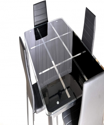 Zena-Metal-and-Glass-Dining-Table-Set-with-4-Chairs-Black-130-cm-x-80-cm-x-74-cm-B07MVVPDXZ