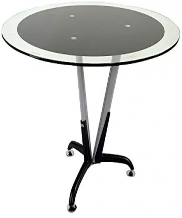 Mahmayi-Klaas-6168B-Modern-Glass-Round-Meeting-Table-with-Chrome-Stainless-Steel-Lags-H-x-W-x-D-75-x-120-cm-ME6168B