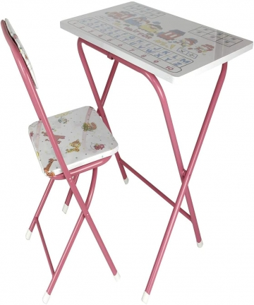 Leostar-Kids-Folding-Study-Table-and-Chair-Set-Pink-ET-3678-Pink-H45-x-W50-x-D20-cm-2724328143