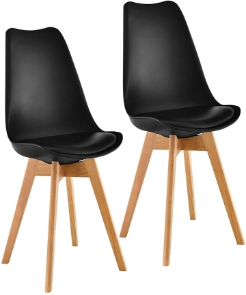 Mahmayi-Dining-Chairs-Set-of-2-Modern-Mid-Century-Classic-Style-Molded-Plastic-Side-Dining-Chair-with-Natural-Wood-Leg-Heavy-Dut
