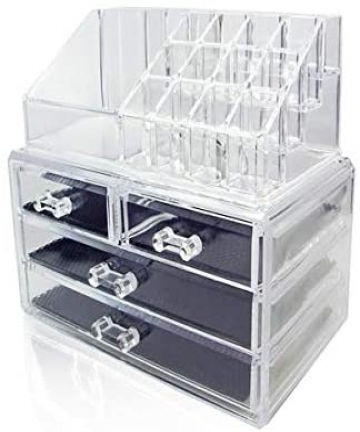 Clear-Acrylic-Jewelry-And-Cosmetic-Storage-Makeup-Organizer-4drawers-B07MWQ7R6B