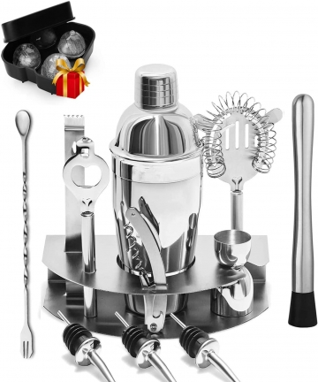 Cocktail-Shaker-Set-12-pcs-Bar-Kit-Bar-Accessories-with-Measurements-Stainless-Steel-for-Home-Bar-tending-Martini-Cocktail-Party