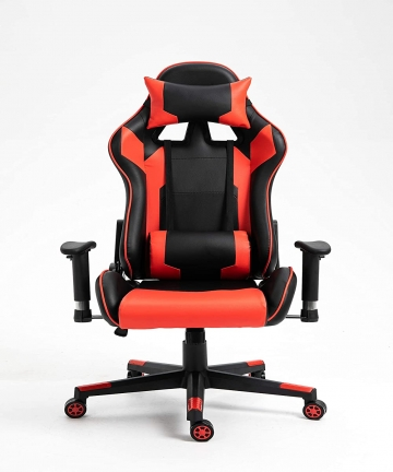 Blitzed-High-Back-PU-Leather-7786-Gaming-Chair-Computer-Office-Chair-with-2D-Armrest-Adjustment-and-Lumbar-Support-Red-Black-B08