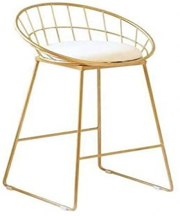 Gold-white-make-up-chair-coffee-chair-bar-stools-45x45x89cm-B084KJPNSP