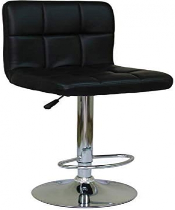 Bar-Chair-Office-Chair-Bar-Stool-Leather-Adjustable-Black-by-Galaxy-GDF-MAF302