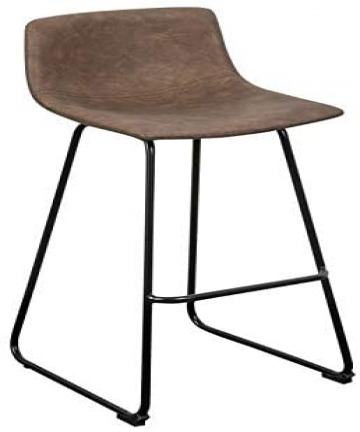 LANNY-Leather-Bar-Stools-Brown-Office-Cocktail-High-Chair-Height-for-Pub-Coffee-Home-Dinning-Kitchen-T10002-with-Back-and-Footre