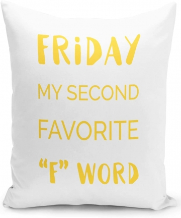 16x16-inch-Throw-Pillow-for-Home-Decor-with-Stuffing-Friday-My-Second-Favourite-f-Word-Funny-Sarcastic-Witty-Pillow-Loud-Univers