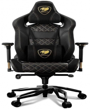 COUGAR-ARMOR-TITAN-PRO-GAMING-CHAIR-Breathable-PVC-Leather-Memory-Head-Pillow-Lumbar-Pillow-170-Reclining-4D-Adjustable-Arm-Rest