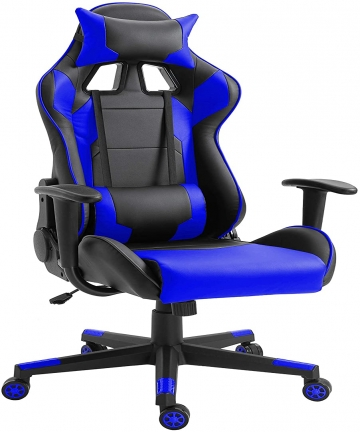 Mahmayi-C599-Adjustable-PU-Leather-Gaming-Chair-PC-Computer-Chair-for-Gaming-Office-or-Students-Ergonomic-Back-Lumbar-Support-Bl