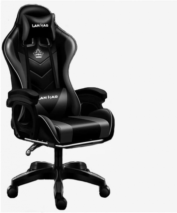 Dzman-Gaming-Chair-Office-Chair-High-Back-Computer-Chair-PU-Leather-Desk-Chair-PC-Racing-Executive-Ergonomic-Adjustable-Swivel-T