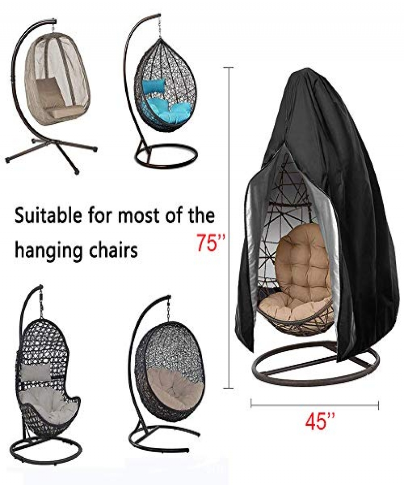 FLYMEI-Patio-Hanging-Chair-Covers-Large-Wicker-Egg-Swing-Chair-Covers-Heavy-Duty-Weather-Resisatnt-Outdoor-Chair-Covers-Black-B0