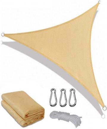 Sun-Shade-Sail-Triangle-Outdoor-UV-Block-Sail-Shades-for-Patios-Yard-Backyard-Pergola-Garden-5-x5-x-5-M-Beige-B07VJJ5ZJF
