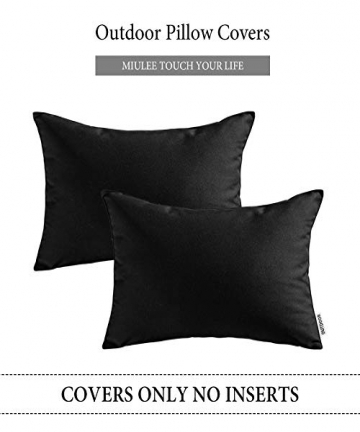 MIULEE-Pack-of-2-Decorative-Outdoor-Waterproof-Pillow-Cover-Square-Garden-Cushion-Case-PU-Coating-Throw-Pillow-Cover-Shell-for-T