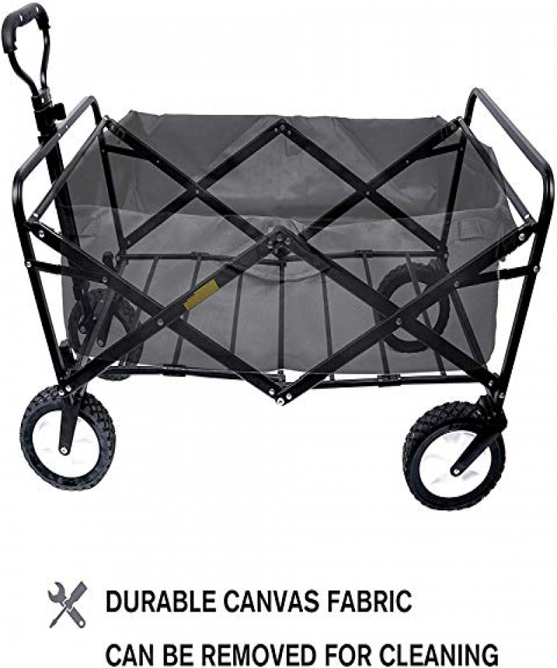 COOLBABY-Multi-functional-childrens-cart-can-be-folded-into-a-portable-outdoor-four-wheeled-cart-GWC-BLK