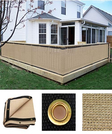 Sun-Shade-Sail-Privacy-Fence-Screen-Beige-Mesh-Fabric-with-Brass-Gromment-Decorative-Fence-for-Indoor-or-Outdoor-185GSM-LJIANW-S
