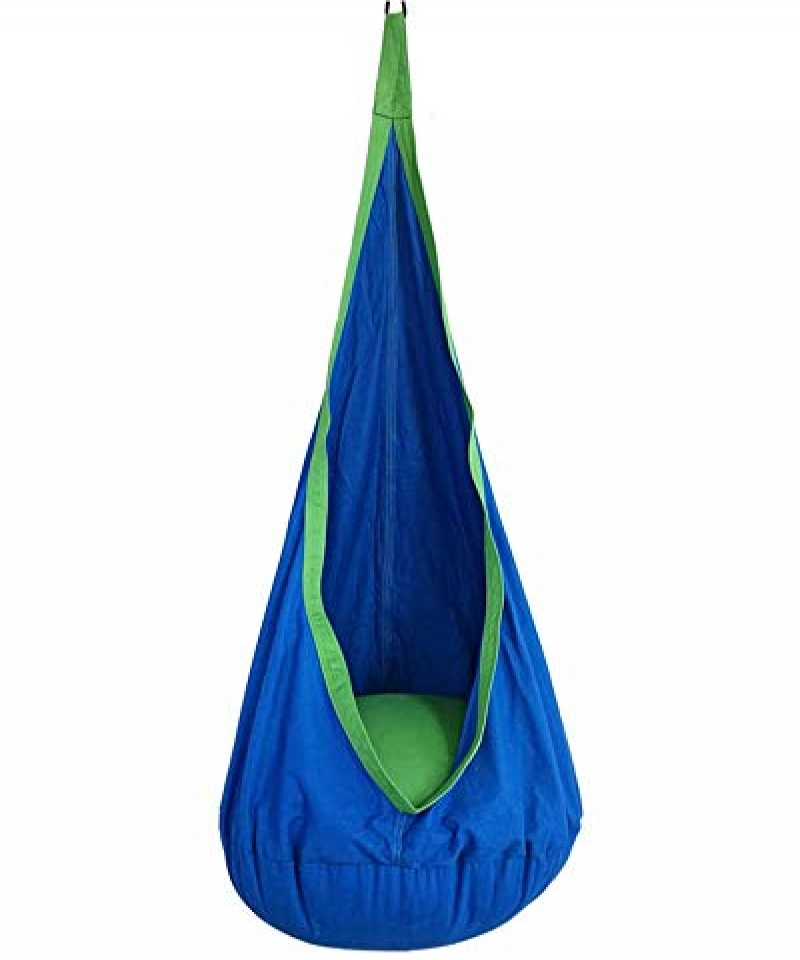 Kids-Pod-Swing-Seat-Hammock-for-Indoor-and-Outdoor-Hanging-Hammock-Chair-Blue-B07B1WWX6V