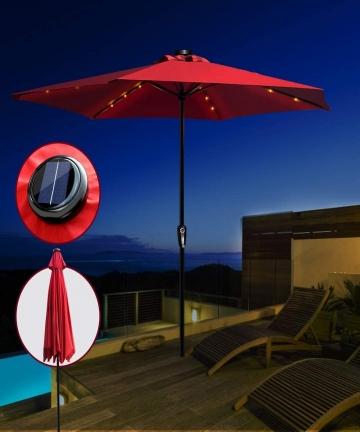 Parasol-Umbrella-with-Solar-LED-Lights-3M-Outdoor-Garden-UmbrellaRed-Masthome-B082YQJ5QB