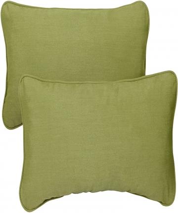Mozaic-AZPS2847-Indoor-Outdoor-Sunbrella-Lumbar-Pillows-with-Corded-Edges-Set-of-2-12-x-24-inches-Cilantro-Green-B00ICE0EIY