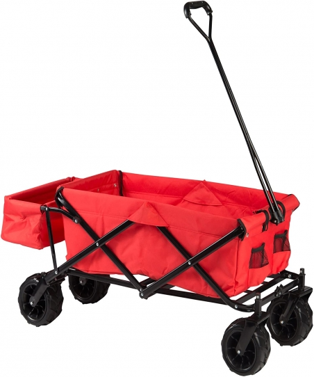 Ultrasport 331900000134 Unisex Adult Collapsible Cart - Red, 88 x 45 x 17 cm